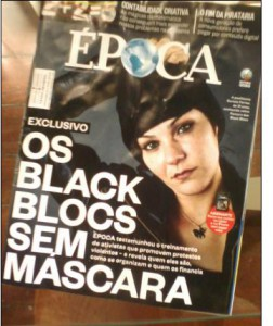"""""""the black block without mask"""" propagada and lies of a Globo-newspaper"""